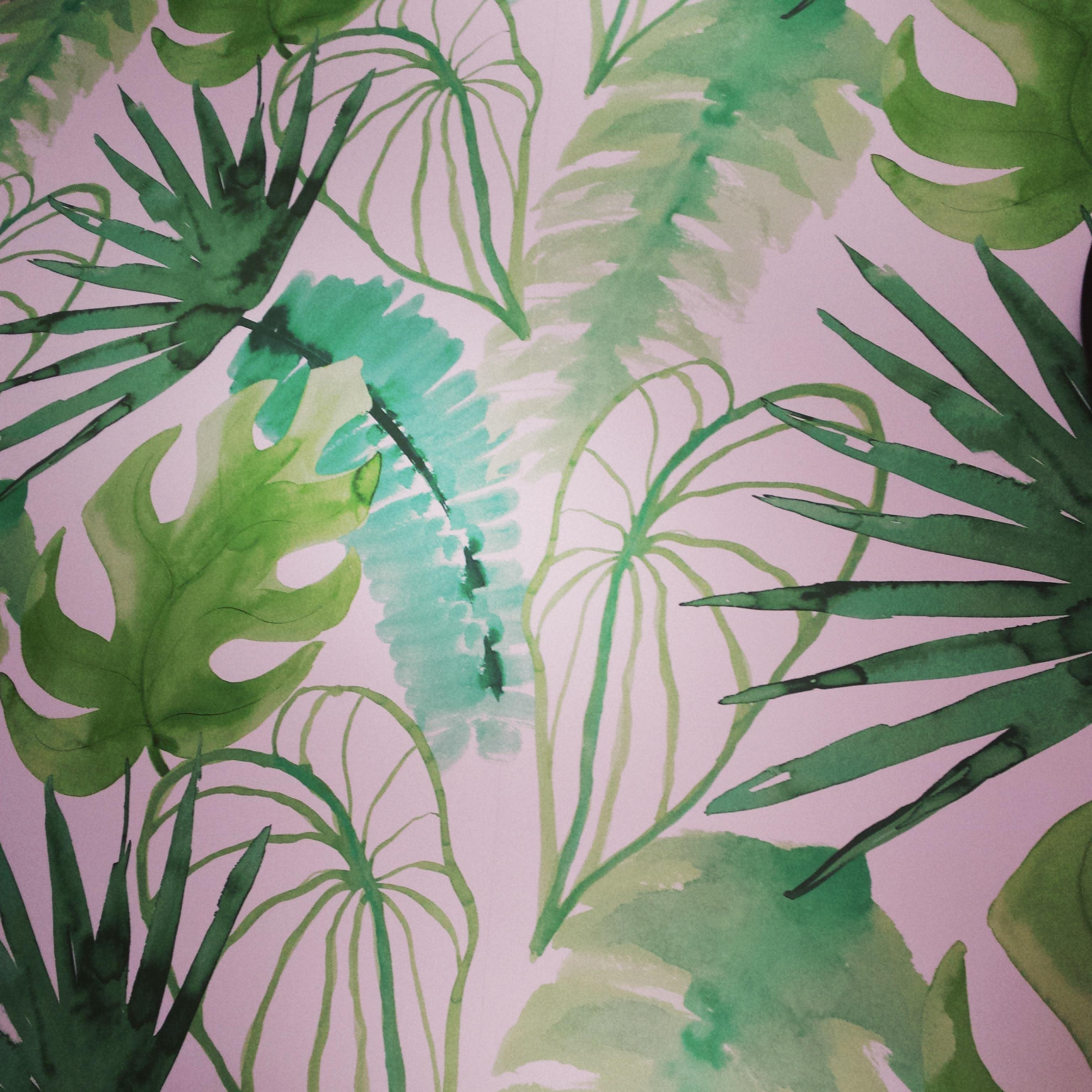 Behang Praxis Roze.Jungle Behang Kwantum